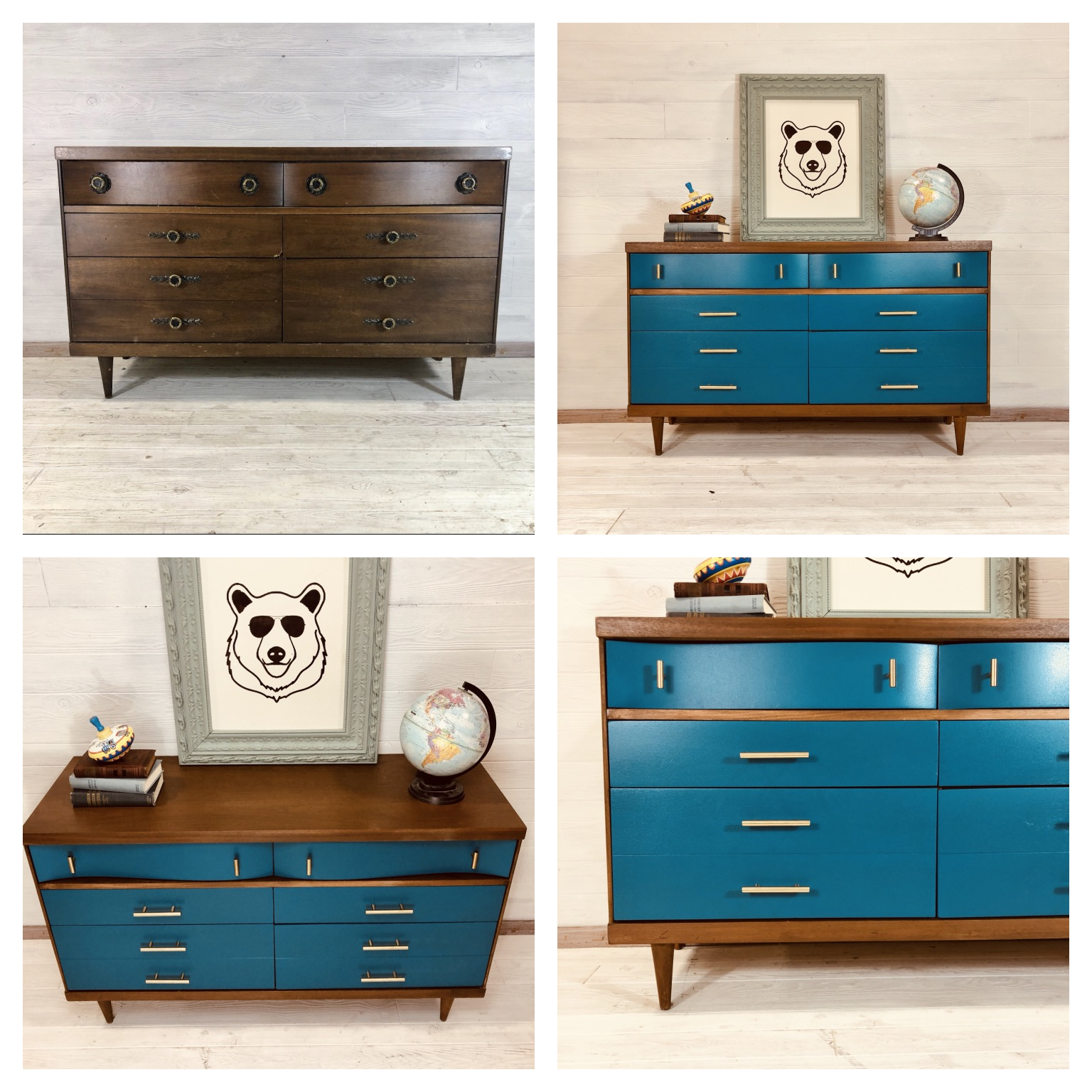 Blue Nile and Colonial Maple Dresser