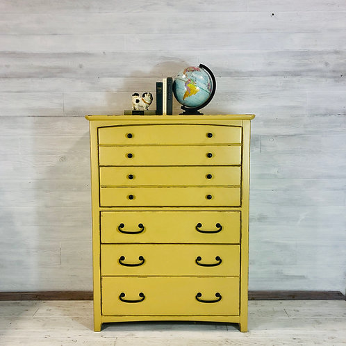 Mustard Tallboy Dresser