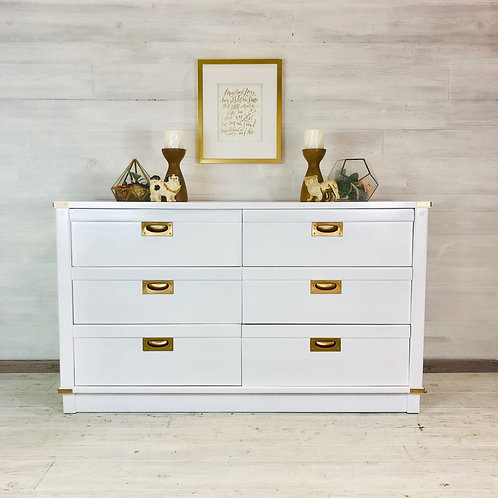 Snow White Long Low Campaign Style Dresser
