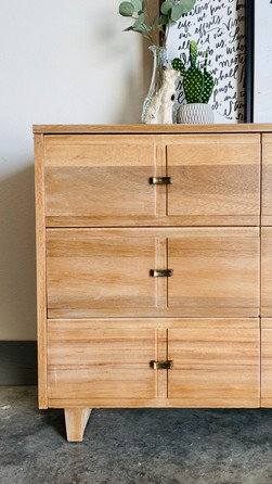 White Washed Wood Dresser