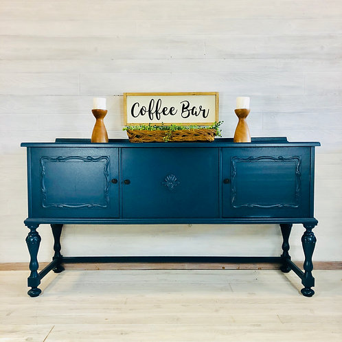 Custom Blue Buffet