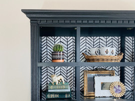 Iron Ore Hutch with Wallpaper back