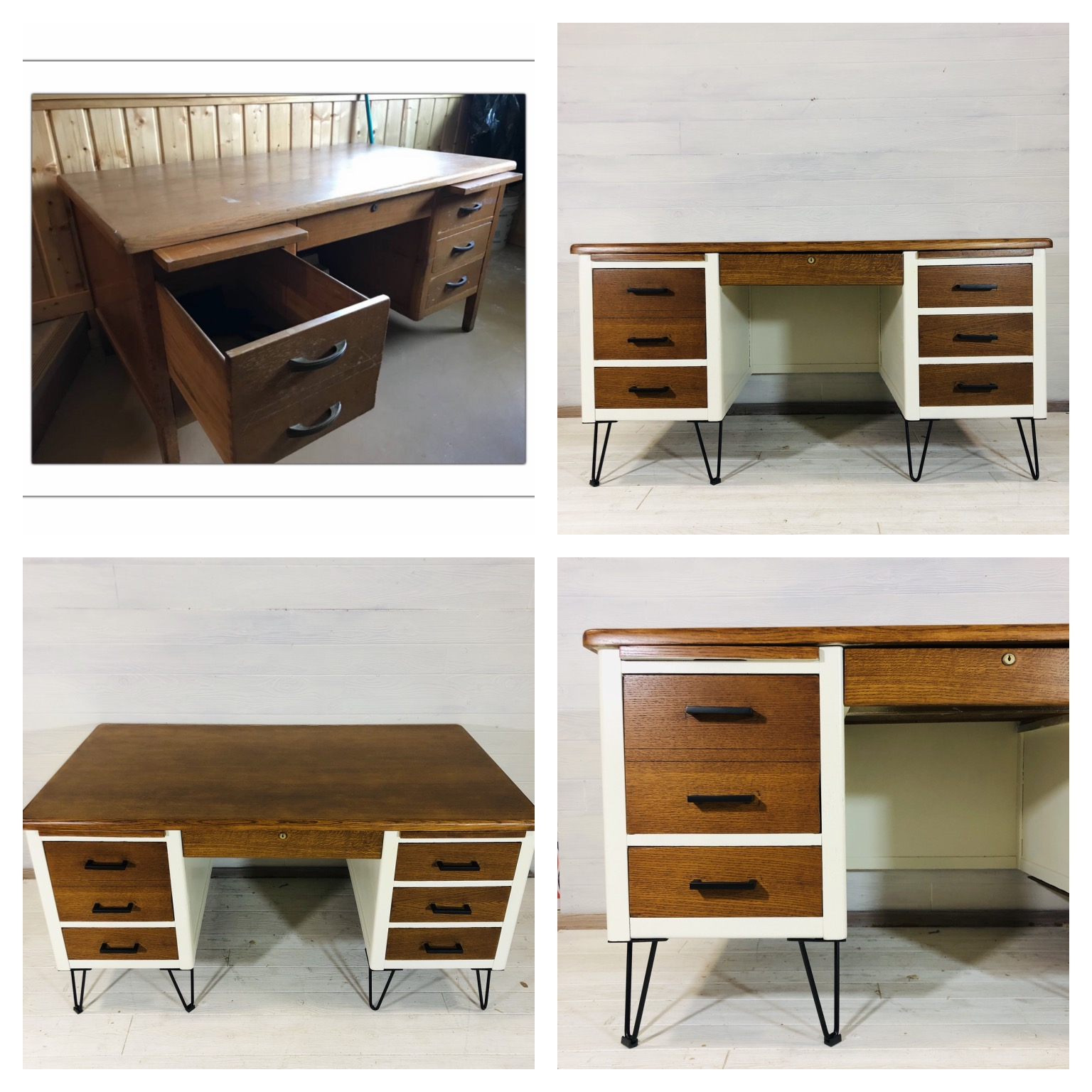 Antique White and Nutmeg Desk