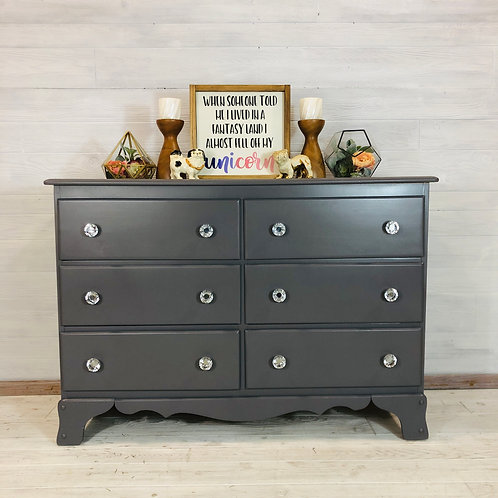 Driftwood Grey 6 Drawer Dresser