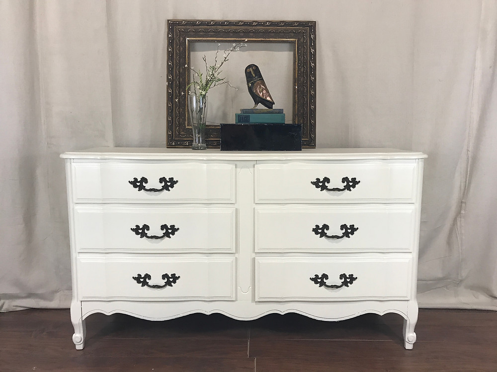 Painted Dresser in General Finishes Antique White