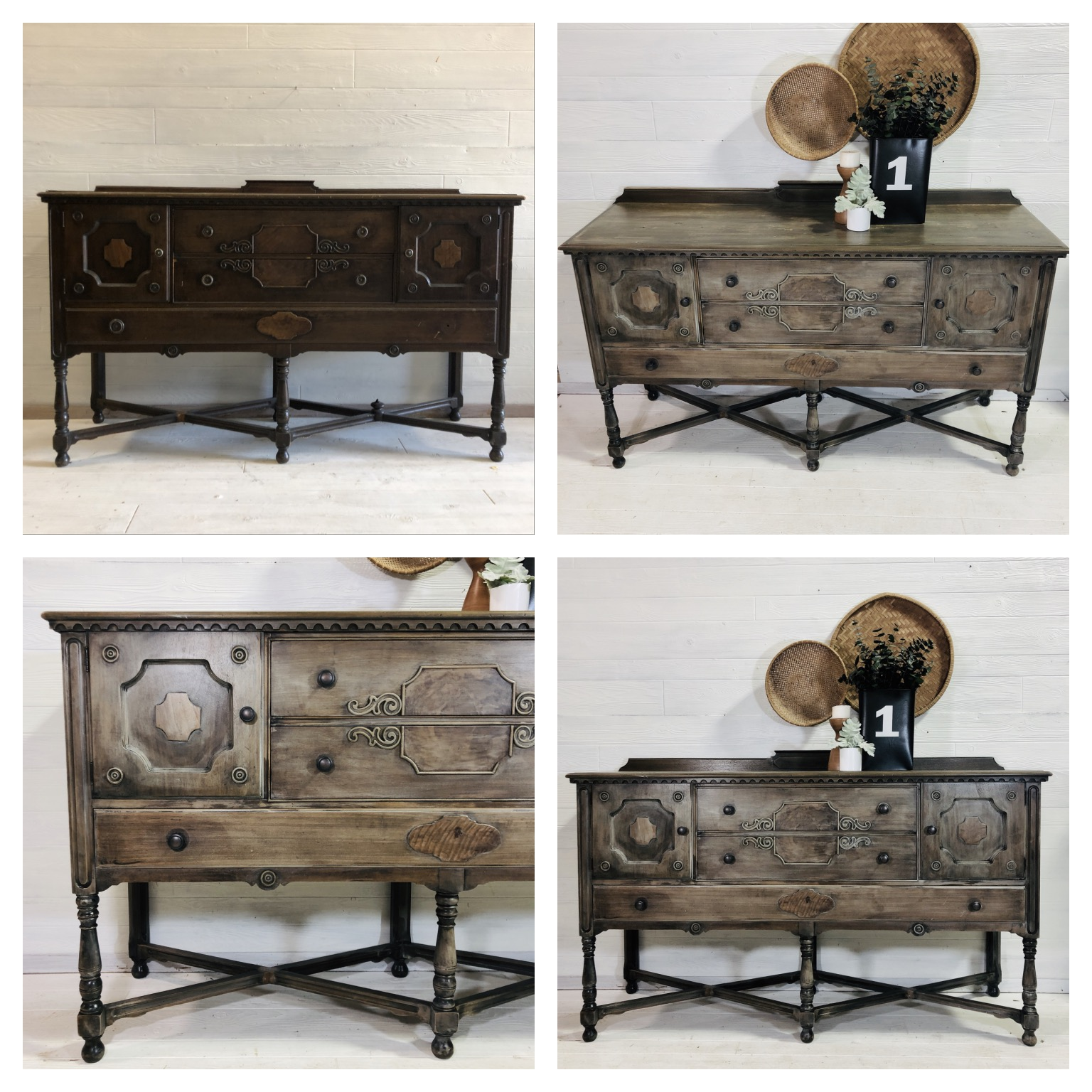 Raw Wood Rustic Wash Buffet