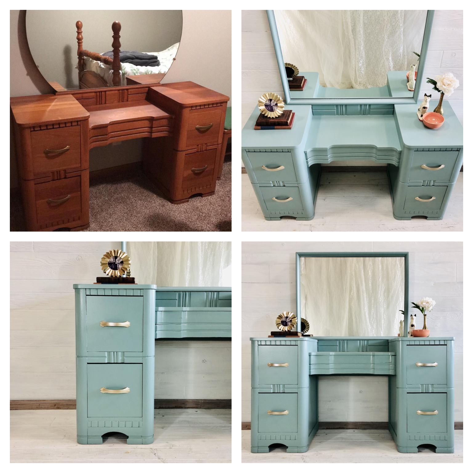 Custom Blue Vanity