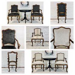 Reupholstered Louis XVI Chairs