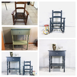 Gibraltar Rocker and Accent Table