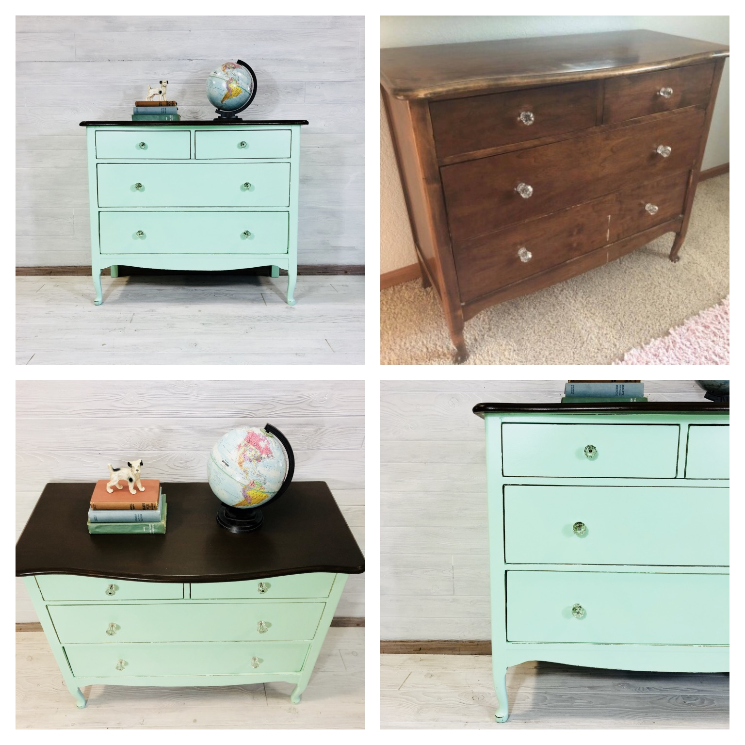 Custom Mint and Java Dresser