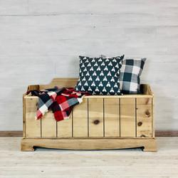 Pine Whitewash Bench