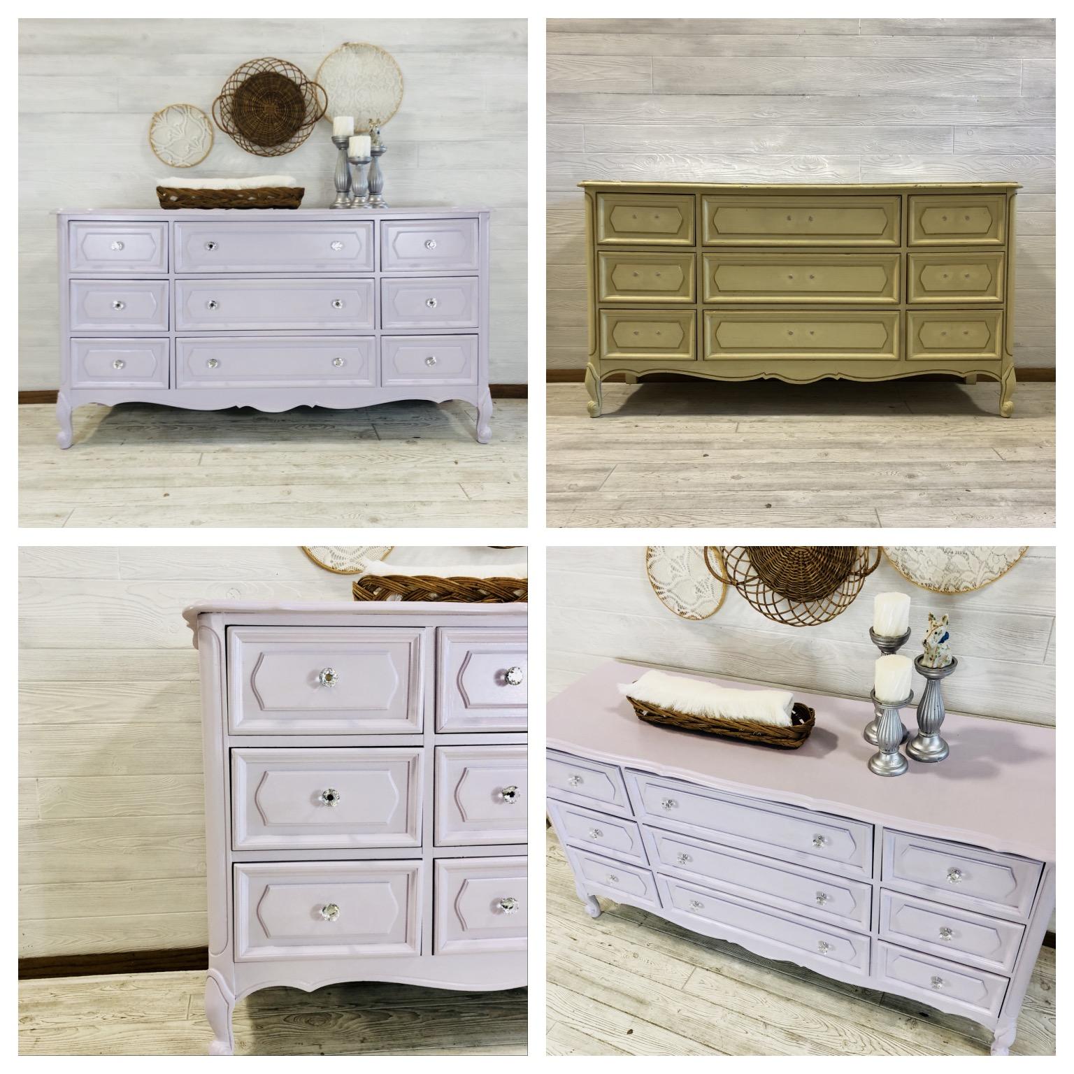 Custom Lavendar Dresser