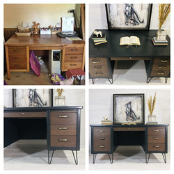 Iron Ore and Wood Desk
