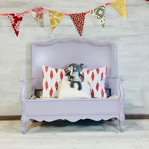 Lavender Twin French Provincial Bed