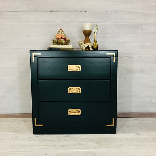 Emerald Campaign Style Chest of Drawers