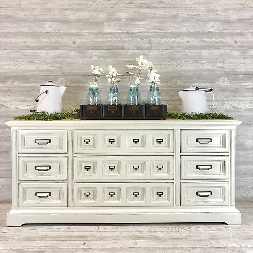 Antique White Dresser with Library Pulls