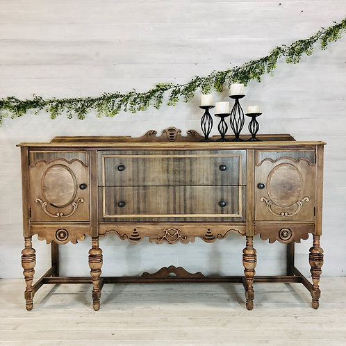 White Washed Wood Spindle Buffet