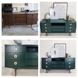 Peacock and Wood Dresser