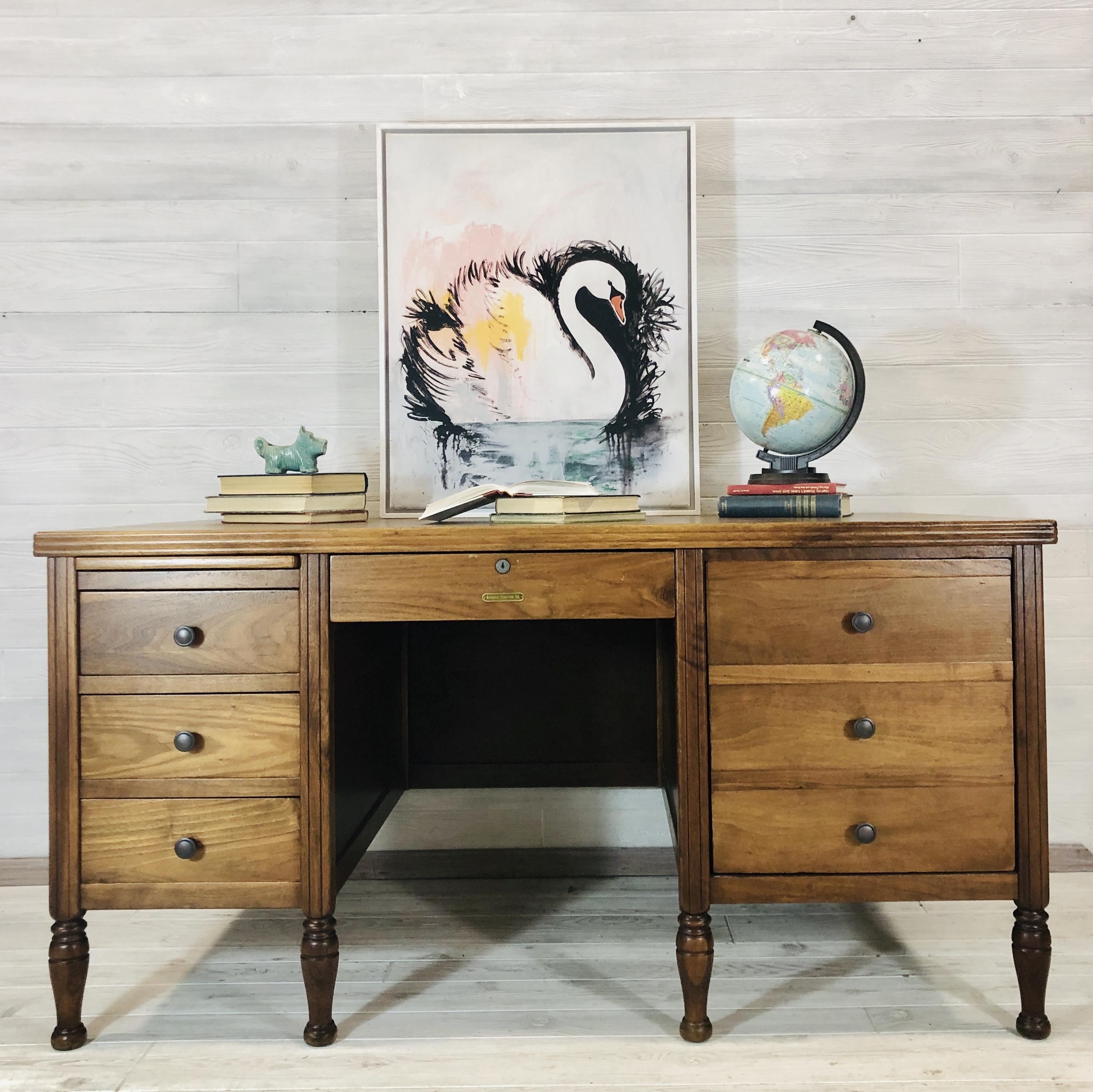 Nutmeg Wood Desk