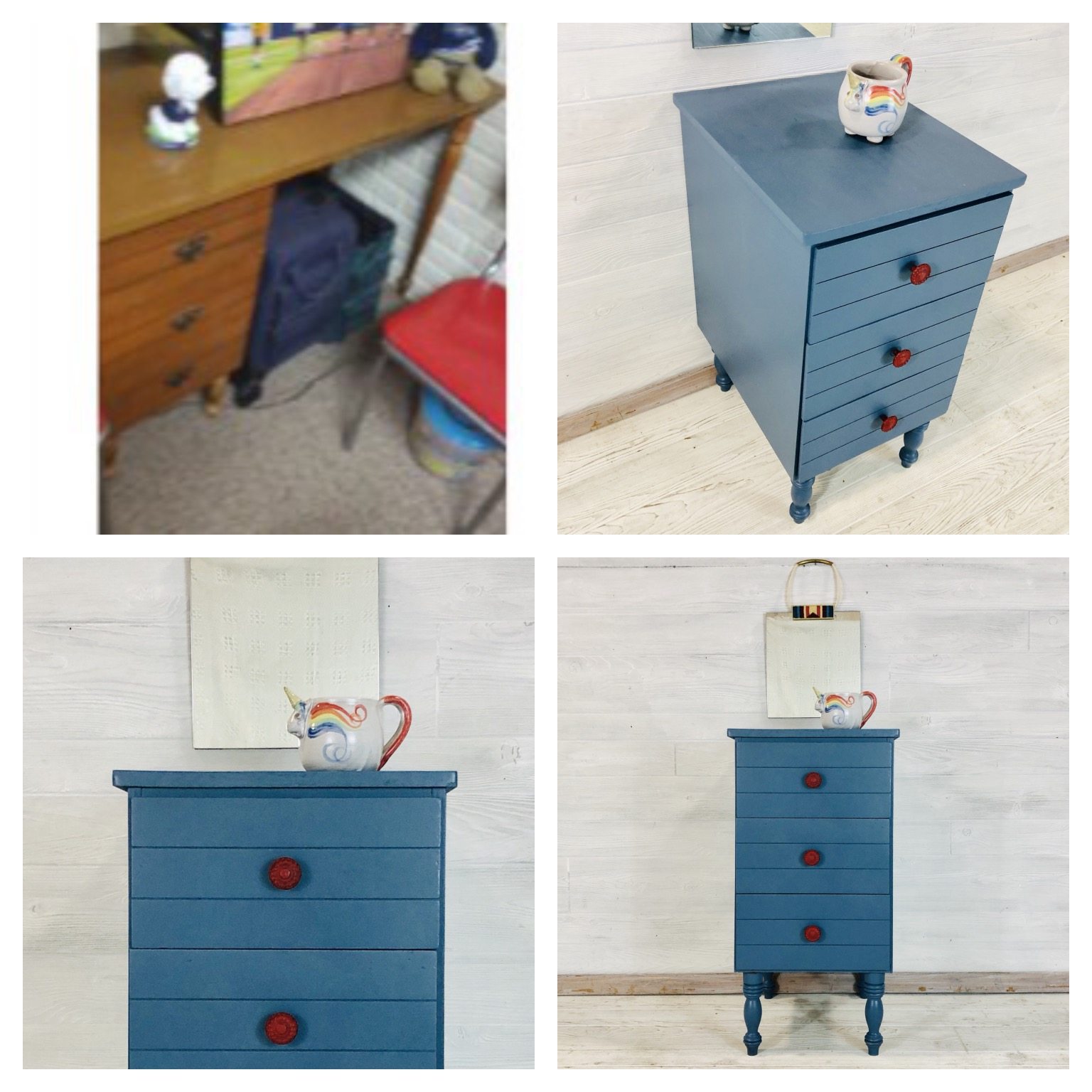 Custom Blue Nightstand