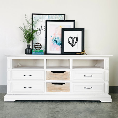 Barry Kripke - White and White Washed Entertainment Center
