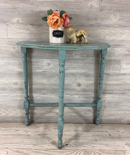 Beachglass Halfmoon Accent Table