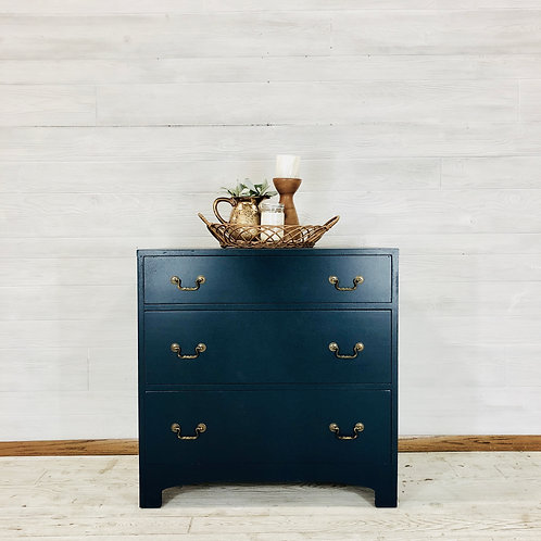 Custom Navy Chest of Drawers