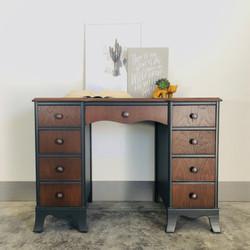 Iron ore and Antique Walnut Desk