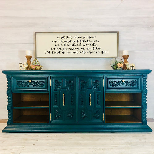 Teal Entertainment Center