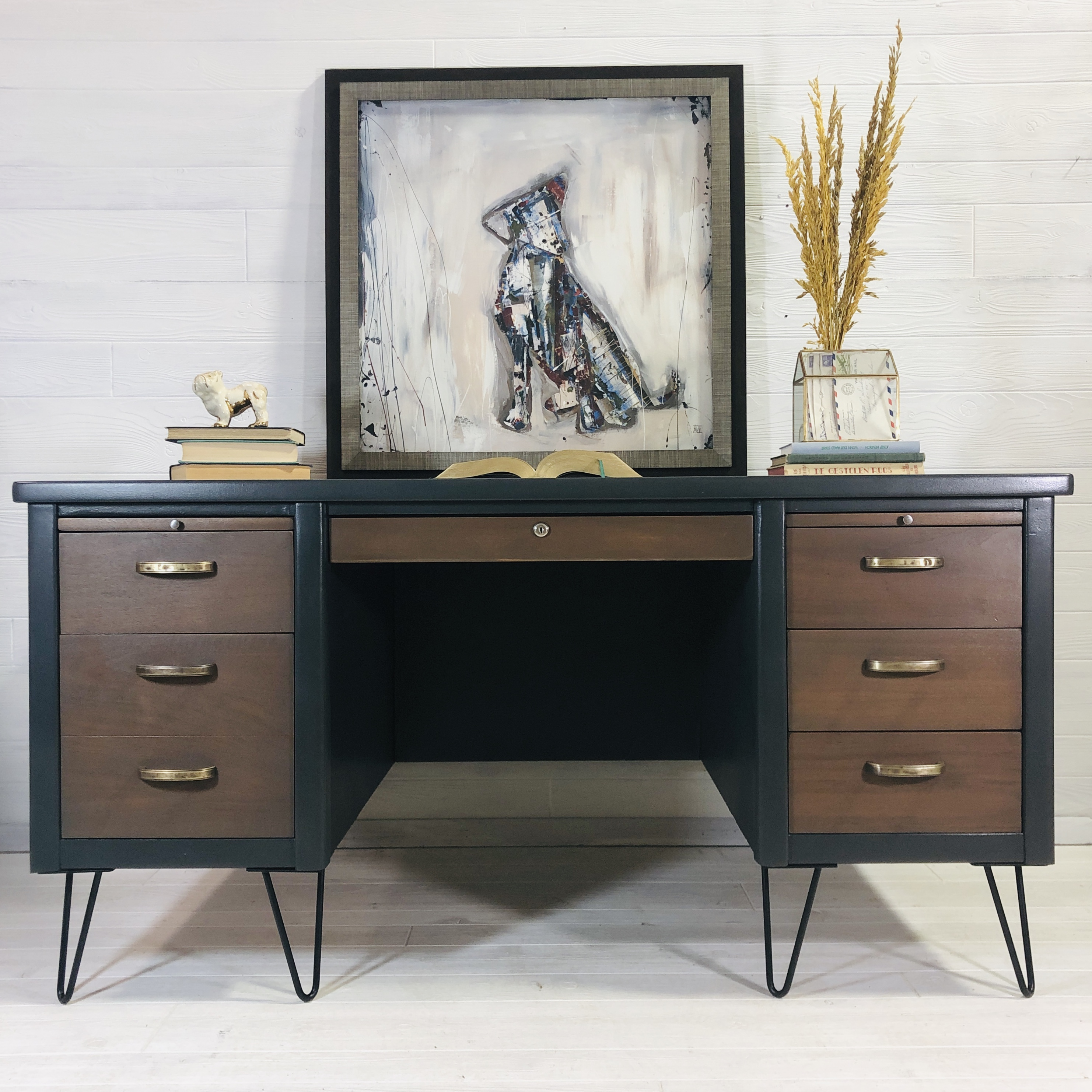 Iron Ore and Wood MCM Desk