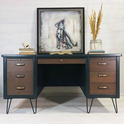 Iron Ore and Wood MCM Desk