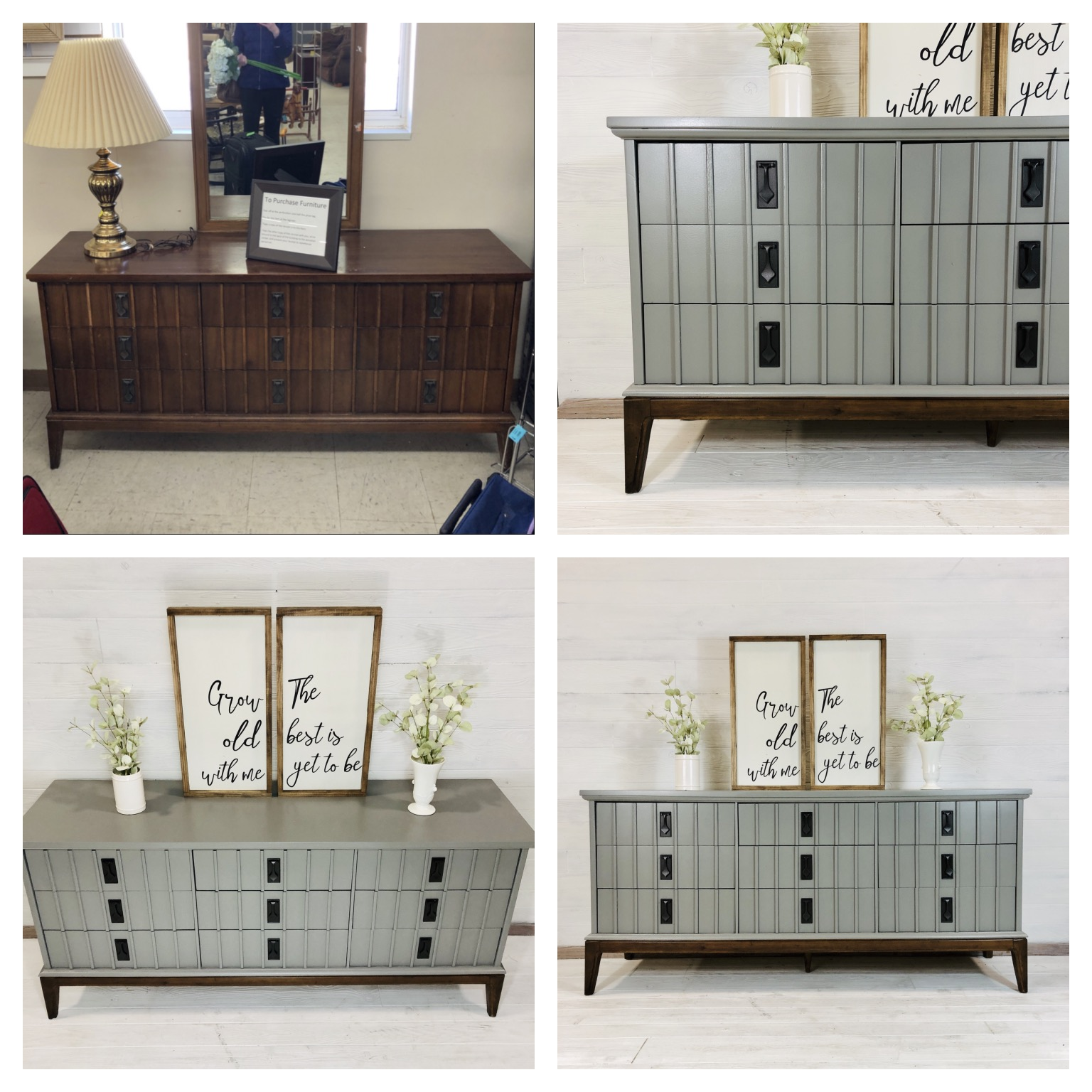 Perfect Grey and Nutmeg Dresser