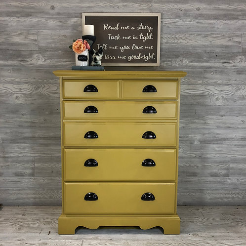 Mustard Yellow Tallboy with Cup Pulls