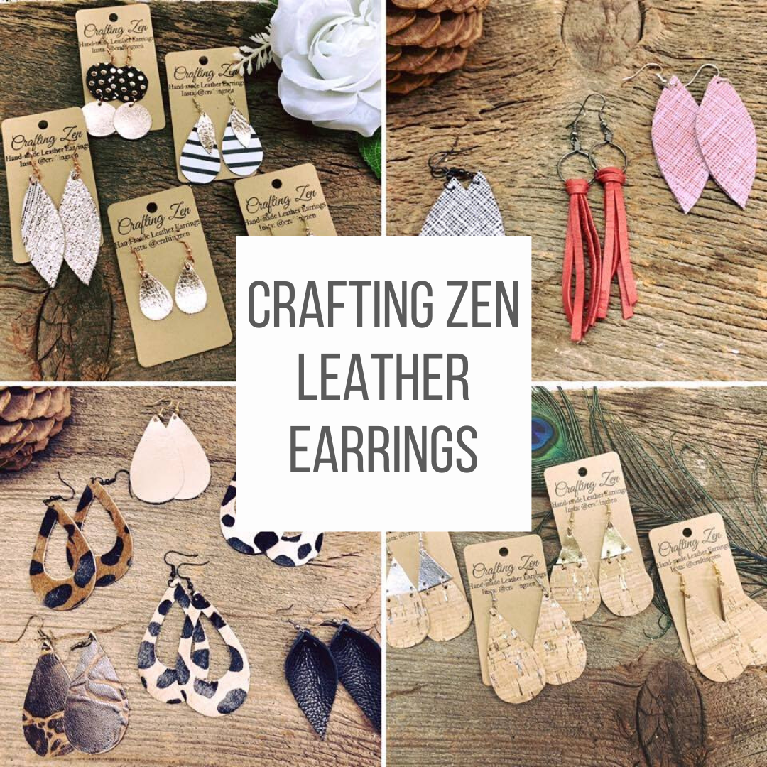 Crafting Zen Leather Earrings