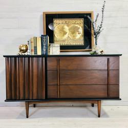 Lamp Black and Wood MCM Dresser