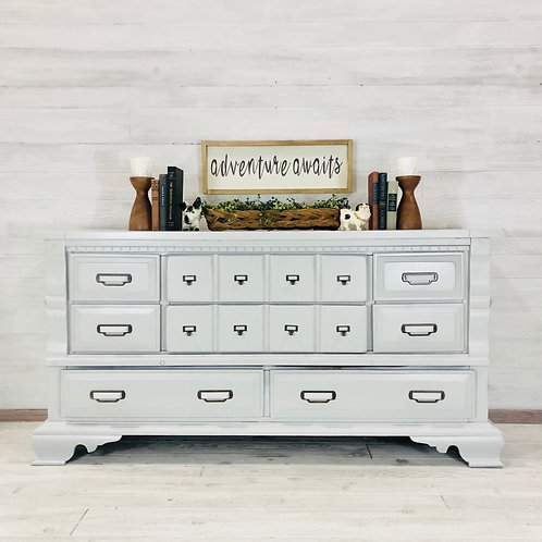 Seagull Grey Dresser with Library Pull