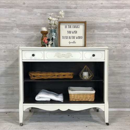 Antique White Dresser with Cubby Storage