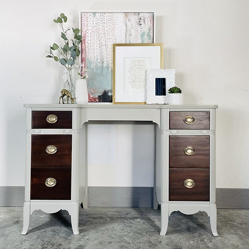 Moira - Wood and Fawn Brindle  Desk