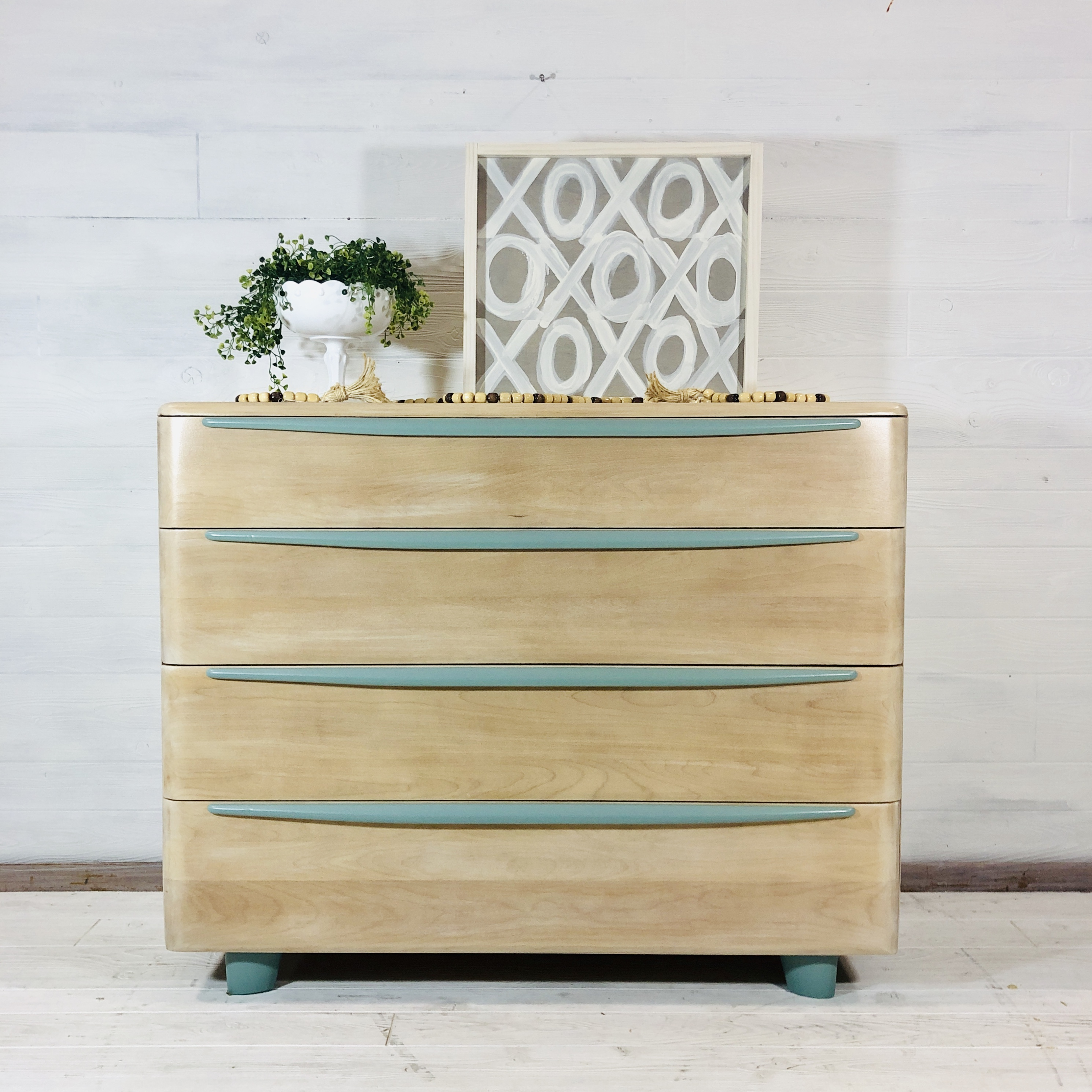 White Wash and Persian Blue Dresser