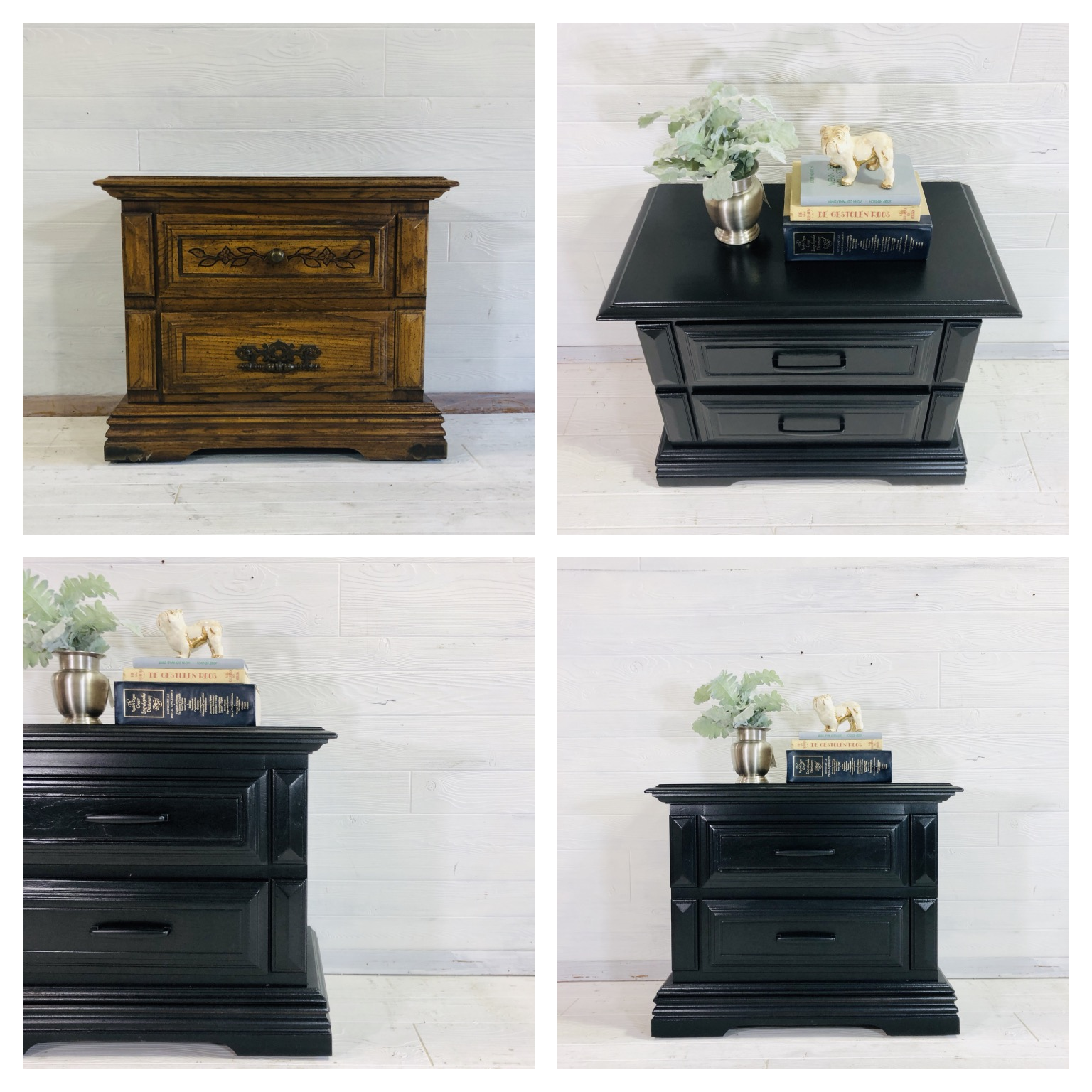 Lamp Black Nightstand