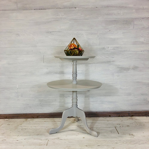 Seagull Grey 2 Tier Table