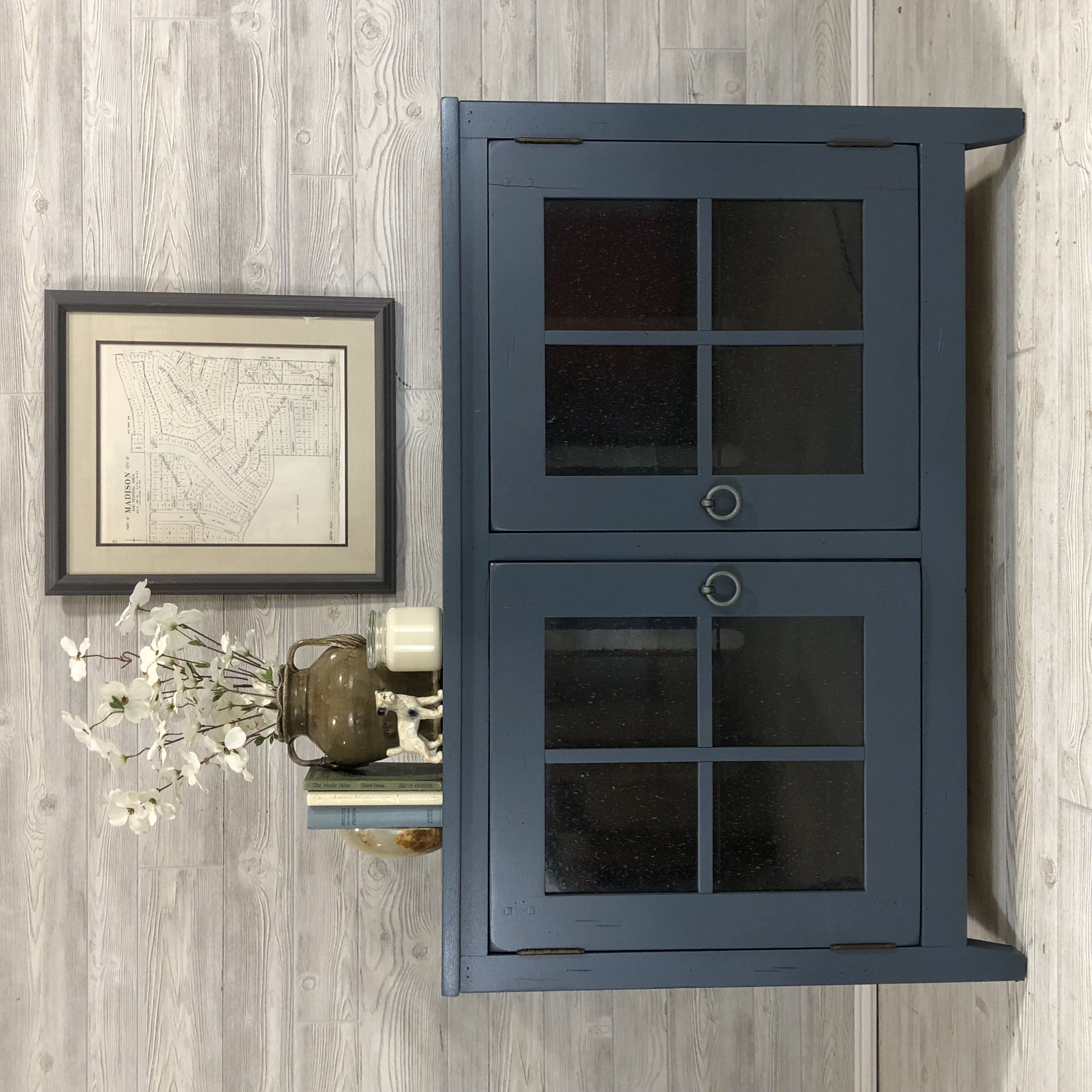 Steel Blue Entertainment Center