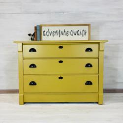 Mustard Yellow Chest of Drawers