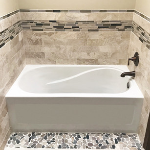 Tile with Acrylic Tub