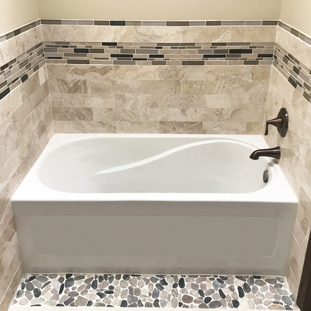 Tile with Acrylic Tub