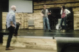 Kevin Shimko teaching improv class in Charlotte