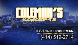 coleman business card