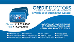 Credit Doctor New Business Card Front