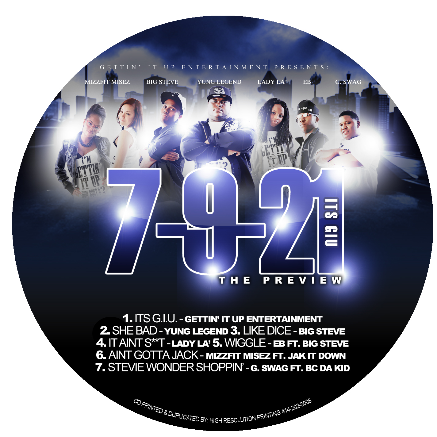 721 PREVIEW CD LABEL 2