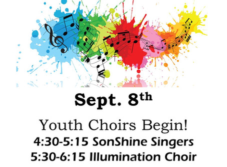 Youth Choirs Begin Sept. 8th